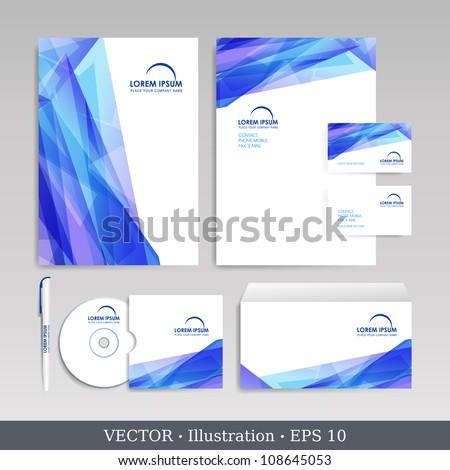 Template for Business artworks.  Vector Illustration. - stock vector