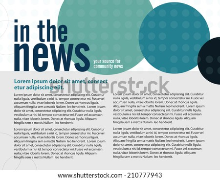 Template for business or non-profit organization page layout  - stock vector