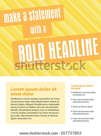Template for business or non-profit organization sell sheet - stock vector