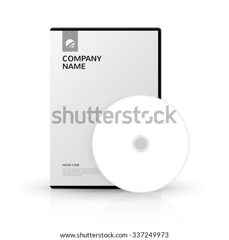 Template for DVD Box and DVD-disc/DVD disc for company presentation/Template for DVD Box and DVD-disc - stock vector