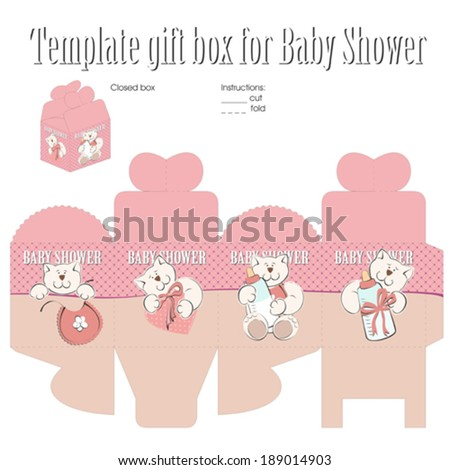 Template for gift box - stock vector