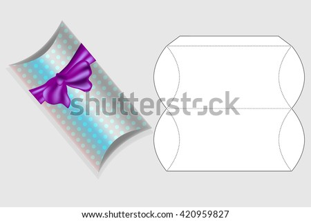 Template for gift box. Box template. Box design - stock vector