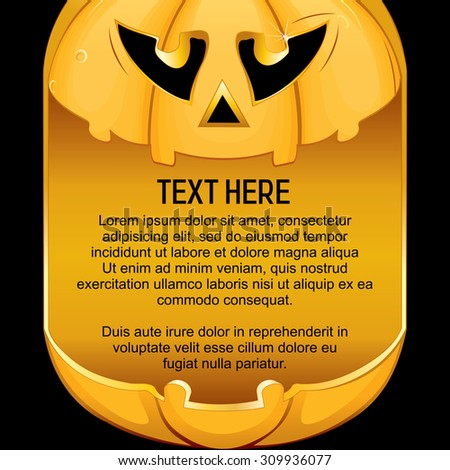 Template for Halloween Background. Ready for Your Text and Design. - stock vector