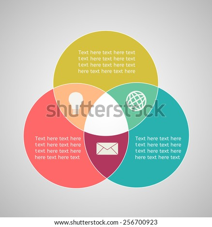 Template for infographic 1 - stock vector