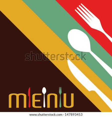 Template for menu card with cutlery-Vector Illustration  - stock vector