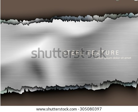 Template for the text from the metal background with shadows - stock vector