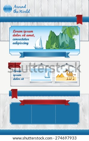 Template for travel Agency - stock vector