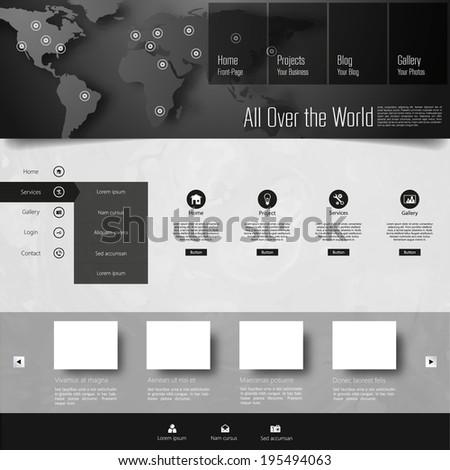 Template for website, eps10 vector  - stock vector