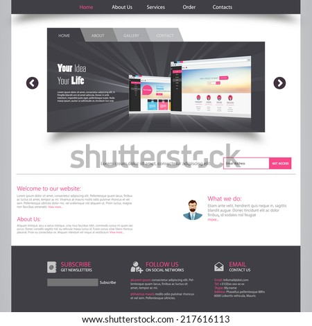 Template for website, eps10 vector  - stock vector