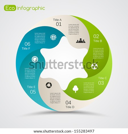 Template for your scientific presentation with text areas (info graphic) - stock vector