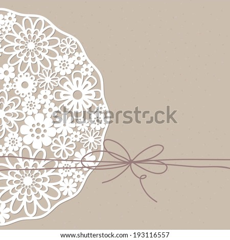 Template frame  design for greeting card. - stock vector