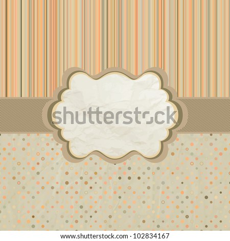 Template frame design for greeting card. And also includes EPS 8 vector - stock vector