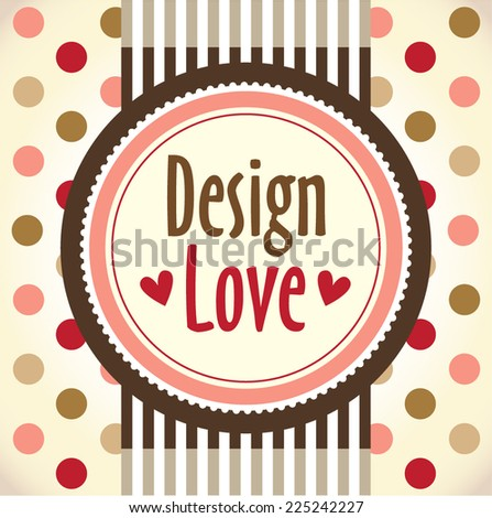 Template frame design for greeting card,love design  - stock vector