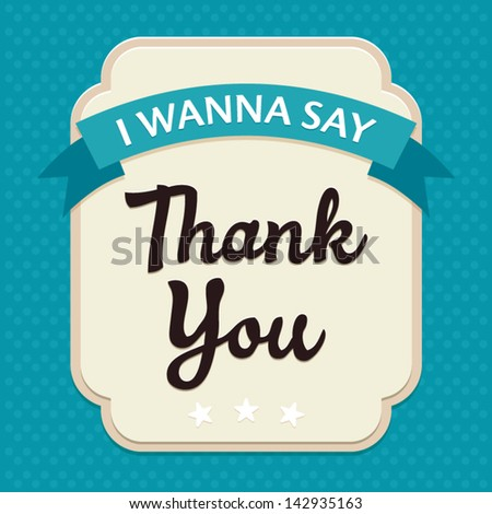 Template frame design for Thank YOU card, vector illustration - stock vector
