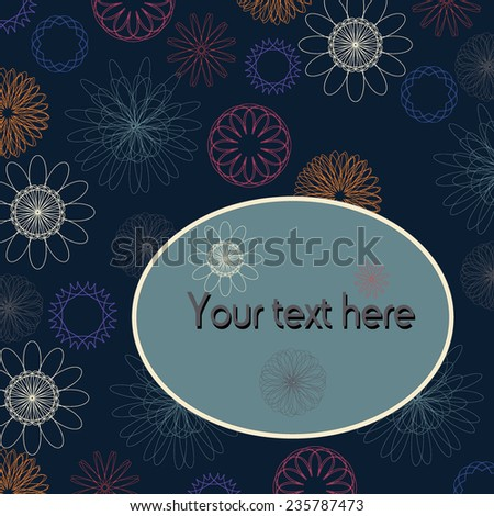 Template frame design. Useful for packaging, invitations, decoration, etc - stock vector