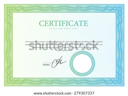 template horizontal Certificate and diplomas. Vector - stock vector