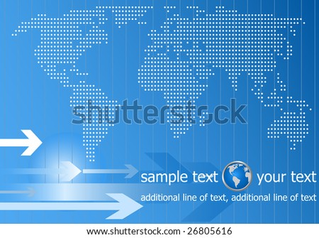 template information web background - stock vector