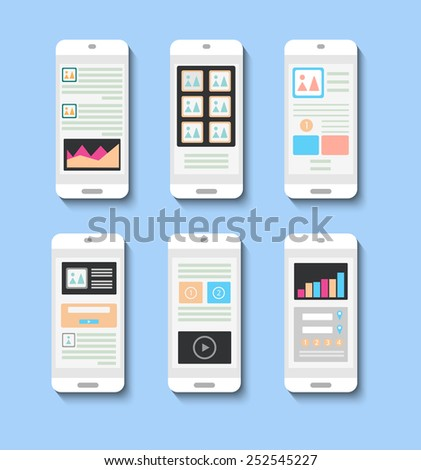 Template interface to design websites - stock vector