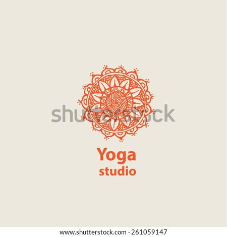 template logo for yoga studios. Company logo design. - stock vector