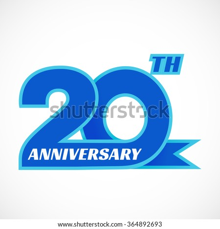 Template logo 20th anniversary.-vector illustrator - stock vector