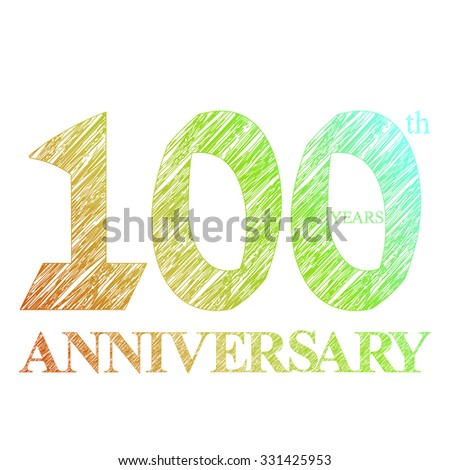 template logo with a circle for anniversary 100 - stock vector