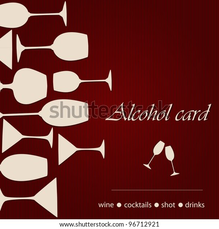 Template of a alcohol card - stock vector