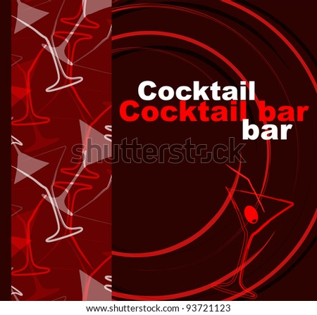 Template of a cocktail bar - stock vector
