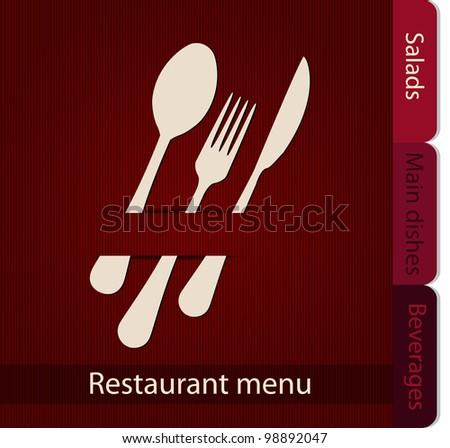Template of a Restaurant Menu - stock vector