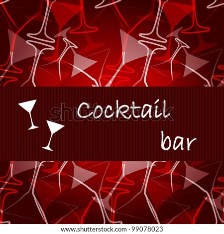 Template of alcohol card - stock vector