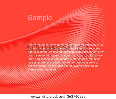 Template of background with text layout - stock vector