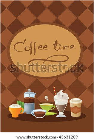 Template of drink menu - stock vector