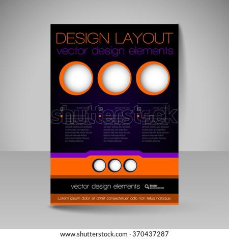 Template of flyer for business brochures, presentations, websites, magazine covers. Editable vector design elements. - stock vector