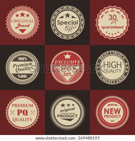 Template of label. Retro Vintage Design. Best price label      - stock vector