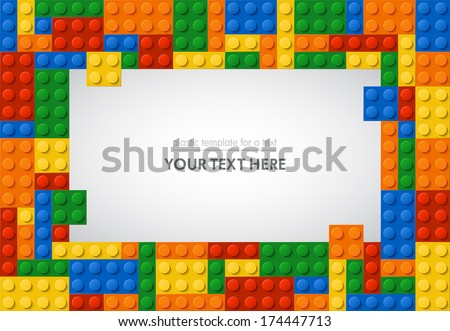 Template of plastic parts for text. 5 colors. Enjoy! - stock vector