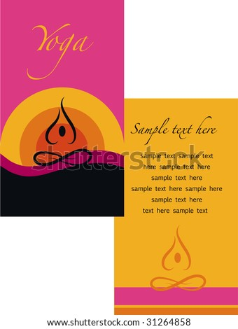 template of yoga brochure - 1 - stock vector