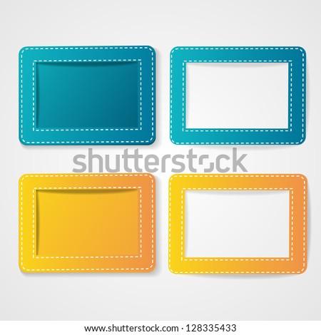 Template photo frames, vector illustration. EPS10. - stock vector