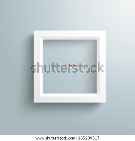 Template rectangle design on the grey background. Eps 10 vector file. - stock vector