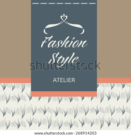 Template vector logo for the company. Tailoring of fabric, fur and leather. Apparel & Accessories. - stock vector