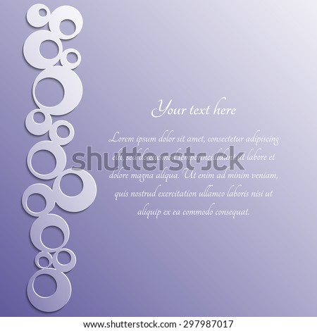 Template with label. Paper frame. Rings pattern with shadow. Vector eps10 - stock vector
