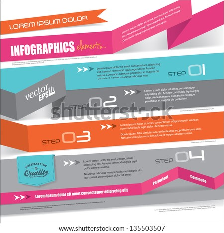 Templates design for infographic, brochures or website - stock vector