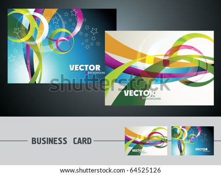 templates for business cards eps10 - stock vector