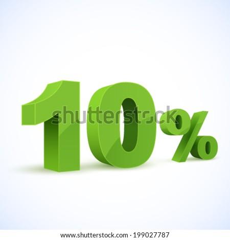 Ten percent  - stock vector