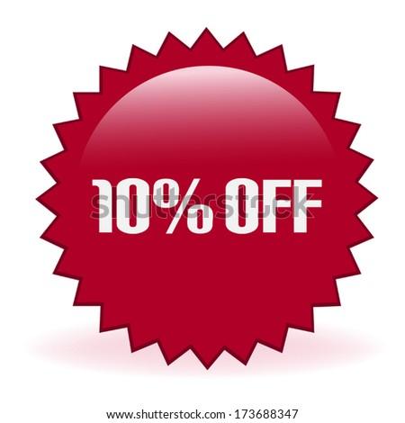 Ten Percent Discount Sticker - stock vector