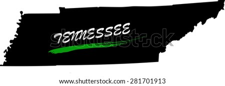 Tennessee map vector in black and white background, Tennessee map outlines in a new design - stock vector