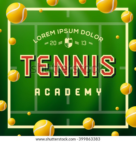 Tennis academy design over green background, vector illustration.  - stock vector