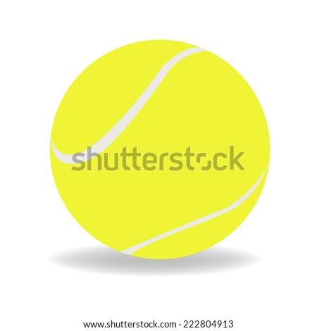 Tennis ball - stock vector