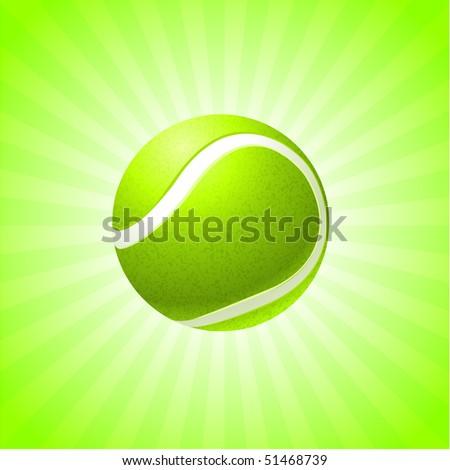 Tennis Ball on Abstract Internet Background Original Illustration - stock vector