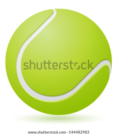 tennis ball vector illustration isolated on white background - stock vector