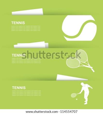 Tennis banners - vector illustration - stock vector