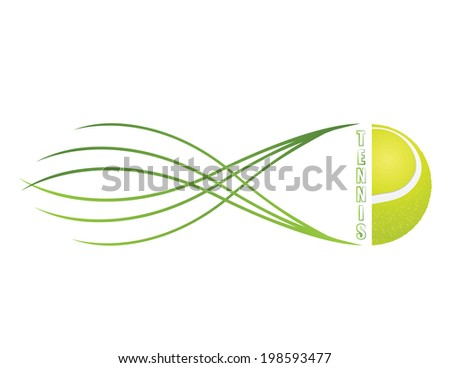 Tennis emblem and symbols isolated on white background. - stock vector